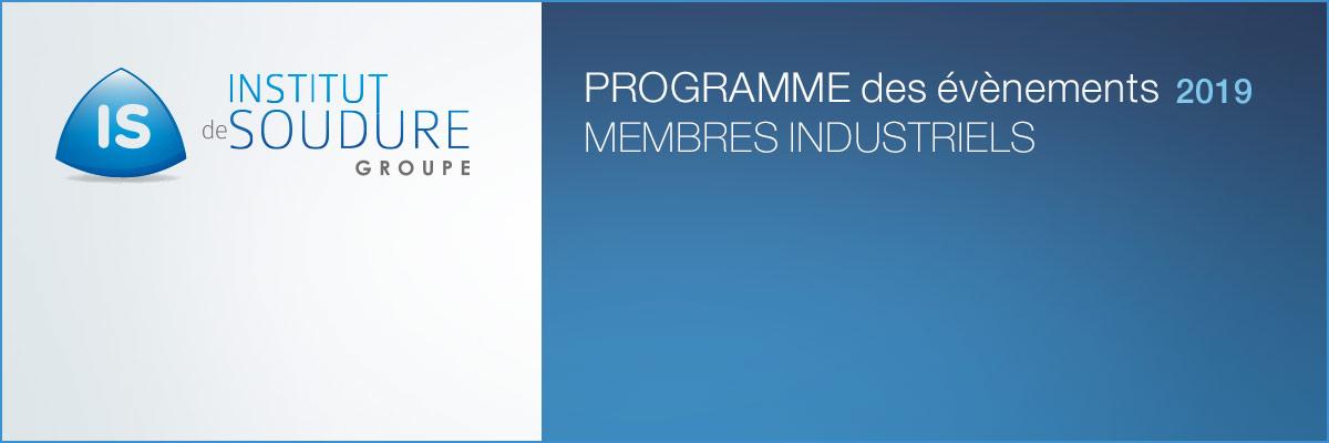 Programme événements 2019 Institut Soudure