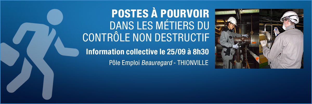 Postes à pourvoir - info collective le 25 septembre - Thionville